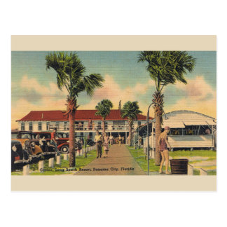 Vintage Long Beach Panama City Florida Postcard
