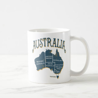 Vintage Look Australia Map Coffee Mug