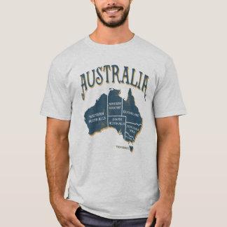 Vintage Look Australia States Map T-Shirt