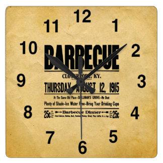 Vintage Look BBQ Restaurant Clock