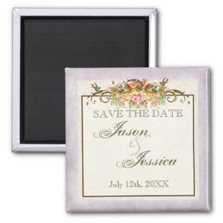 Vintage Look Blue Hydrangea - Wedding In - Magnet