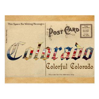 Vintage Look Colorado Old Postcard