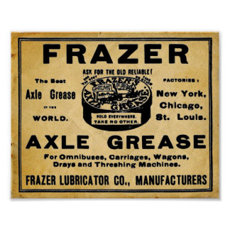 Vintage Look Frazers Axel Grease Automotive Print