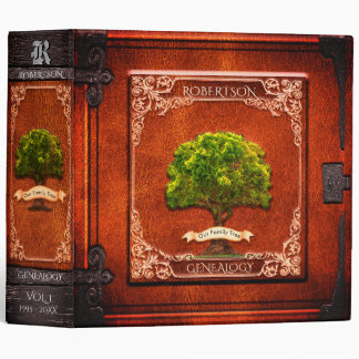 Vintage Look Genealogy Family Tree Vinyl Binders