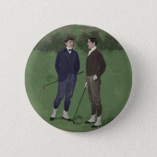 Vintage look golf scene 2 inch round button