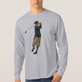 Vintage look Golfer Golf Mens Long Sleeve T-Shirt