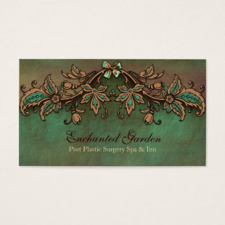 Vintage Look Green and Brown Custom Business Card