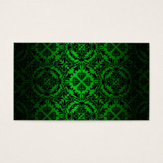 Vintage look Green & Black Damask #4 Business Card
