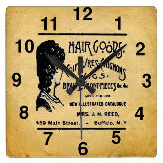 Vintage Look Hair Salon Wall Clock