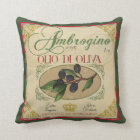 Vintage look Italian Retro Olive Oil Pillow Decor