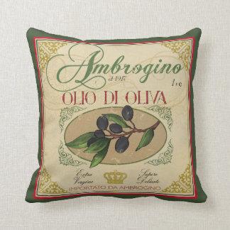 Vintage look Italian Retro Olive Oil Pillow Decor