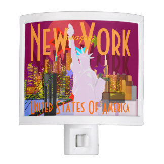 Vintage look New York Travel Nite Light