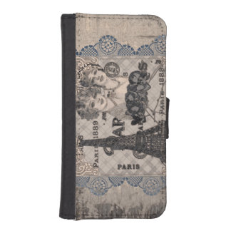Vintage Look Paris iPhone 5/5s Wallet Case