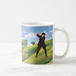 Vintage look Period Golfer Golf Large Mug