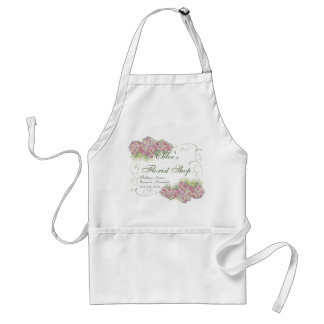 Vintage Look Pink Hydrangea -  Business Aprons