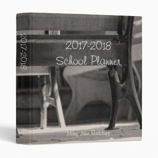 Vintage Look School Planner Binders