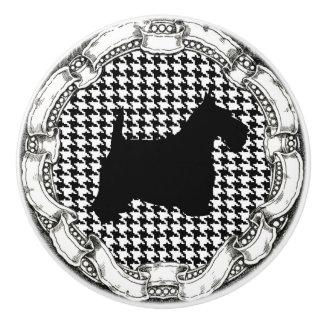 Vintage Look Scottish Terrier Ceramic Knob