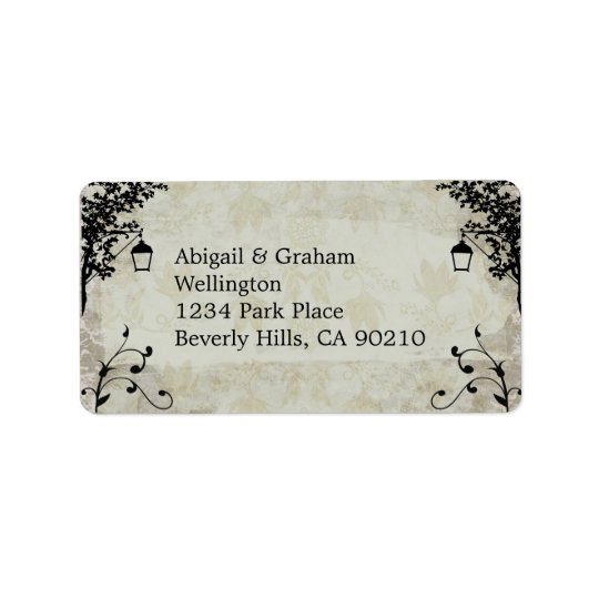 Vintage Look Wedding Address Labels