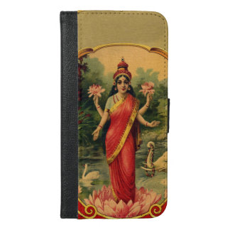 Vintage Lotus Flower Hindu Goddess Lakshmi iPhone 6/6s Plus Wallet Case