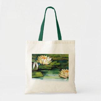 Vintage Lotus Tote Bag