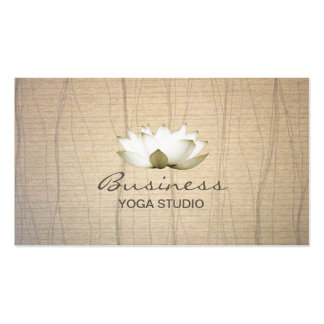 Vintage Lotus Yoga Teacher Business Card