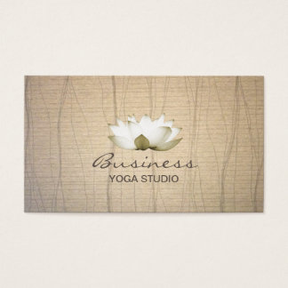 Vintage Lotus Yoga Teacher Business Card