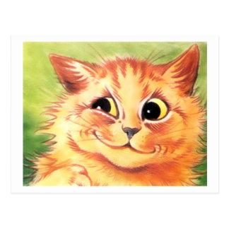 Vintage Louis Wain Smiling Cat Postcard
