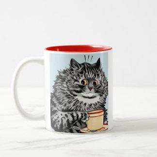 Vintage Louis Wain Teacup Cat Art Gift Mug