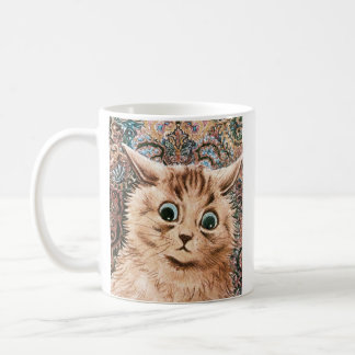 Vintage Louis Wain Wallpaper Cat Coffee Mug