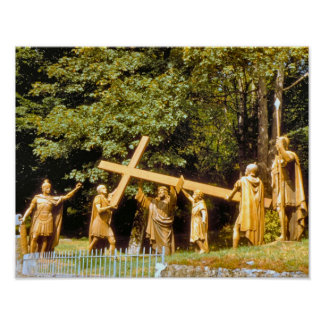 Vintage Lourdes, Stations of the Cross Poster