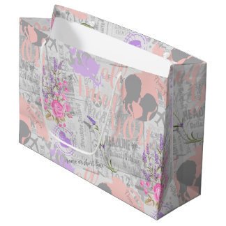 Vintage Love, All I Need is You Large Gift Bag