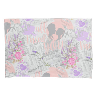 Vintage Love, All I Need is You Pillowcase