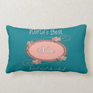 Vintage Love and Cherished Mom Lumbar Pillow