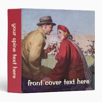 Vintage Love and Romance, Couple at Football Game Binder