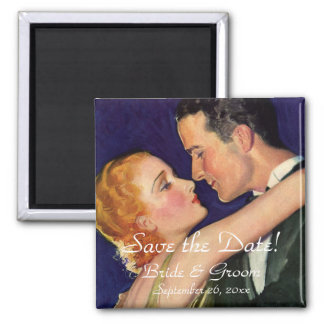 Vintage Love and Romance, Hollywood Save the Date Magnet