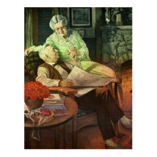 Vintage Love and Romance; Romantic Grandparents Postcard