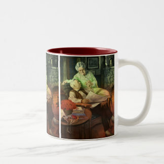 Vintage Love and Romance; Romantic Grandparents Two-Tone Coffee Mug
