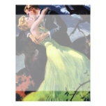 Vintage Love and Romance, Romantic Kiss Letterhead Design