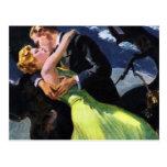 Vintage Love and Romance, Romantic Kiss Postcard