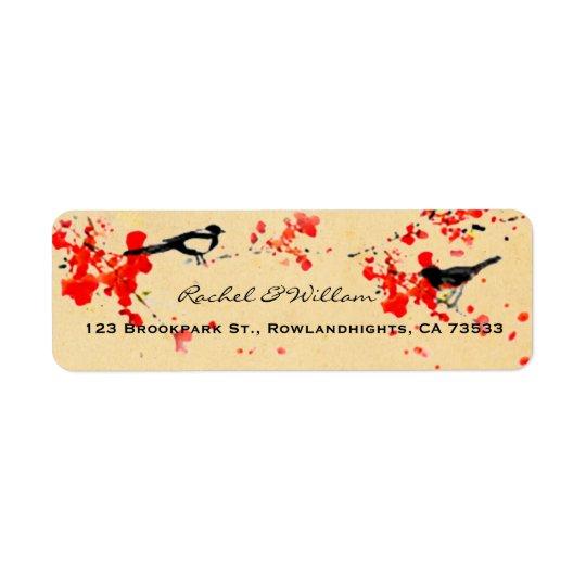 Vintage Love Birds Sakura Spring Wedding