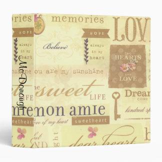 Vintage Love Collage Vinyl Binders