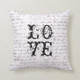 Vintage Love Distressed Pillow