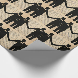 Vintage Love & Marriage Gay Wedding Longfellow Wrapping Paper