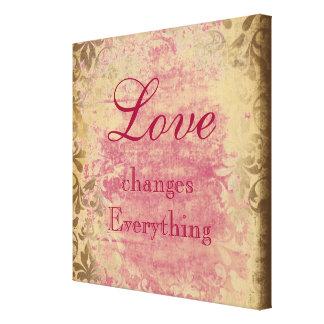 Vintage Love Quote Canvas Print