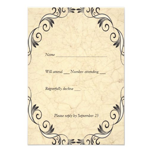 Vintage Love Scripture Cream rsvp Custom Invites
