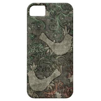 Vintage LoveBirds Embossed Print Case iPhone 5 iPhone 5 Cases