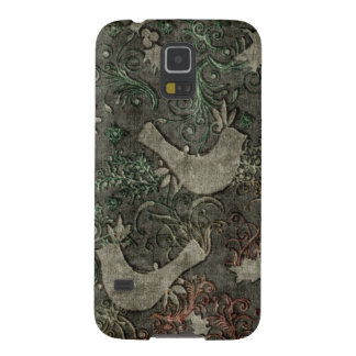 Vintage LoveBirds Embossed Samsung Galaxy Nexus Galaxy S5 Case