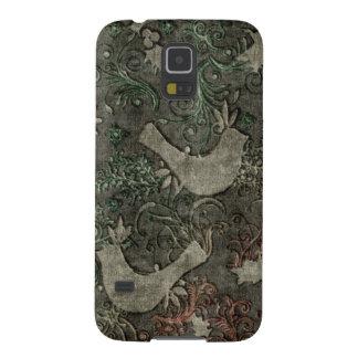 Vintage LoveBirds Embossed Samsung Galaxy Nexus Galaxy S5 Cover