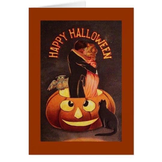 Vintage Lovers Halloween Card