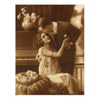 Vintage Lovers,  Love Romance Romantic Music Postcard